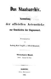 Das Staatsarchiv: Volumes 14-16