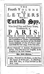 The Eight Volumes of Letters Writ by a Turkish Spy