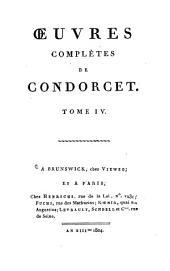 Oeuvres complètes de Condorcet: Volume4
