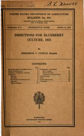Directions for Blueberry Culture, 1921