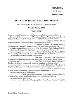 Acta Mechanica Solida Sinica PDF