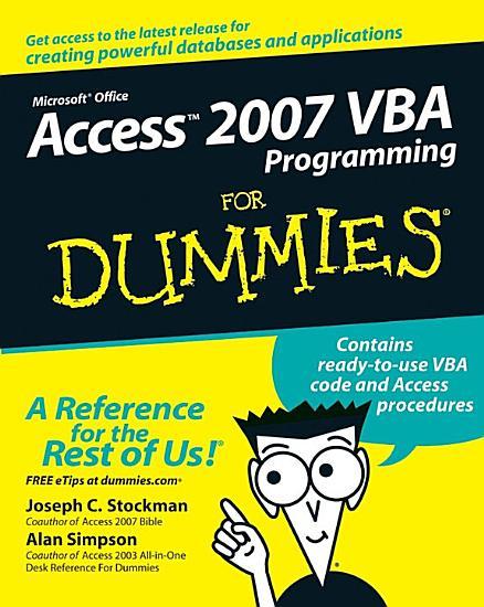 Access 2007 VBA Programming For Dummies PDF