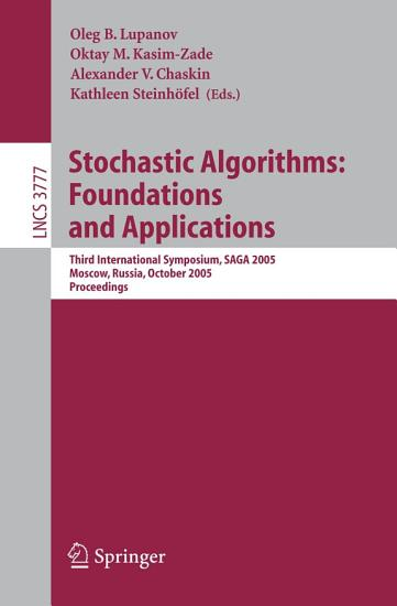 Stochastic Algorithms  Foundations and Applications PDF