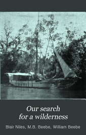 Our Search for a Wilderness: An Account of Two Ornithological Expeditions to Venezuela and to British Guiana