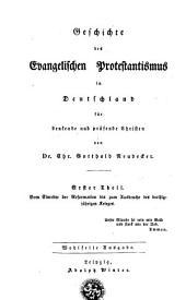 Vom Eintritte der Reformation bis zum Ausbruche das dreissigjährigen Krieges