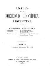 Anales de la Sociedad Científica Argentina: Volumen 12