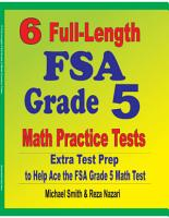 6 Full Length FSA Grade 5 Math Practice Tests PDF
