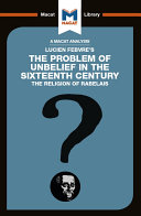 The Problem of Unbelief in the 16th Century