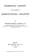 Elementary Lessons in the Science of Agricultural Practice PDF
