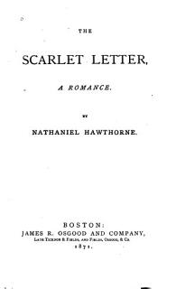 The Scarlet Letter  a Romance Book