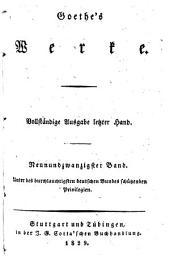 Goethe's Werke: Vollständige Ausgabe letzter Hand, Bände 29-30