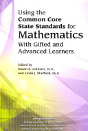 Using the Common Core State Standards for Mathematics with Gifted and Advanced Learners PDF