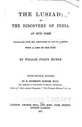 The Lusiad: Or, The Discovery of India. An Epic Poem