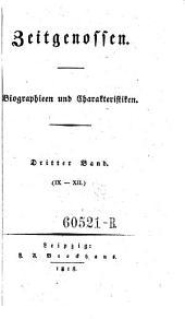 Zeitgenossen. Biographien und Charakteristiken: Band 3