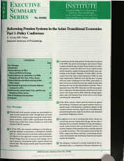 Reforming Pension Systems in the Asian Transitional Economies PDF