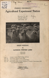Fattening Western Lambs, 1919-1920, 1920-1921: Volumes 254-275