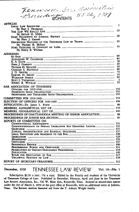Proceedings of the     Annual Session of the Bar Association of Tennessee