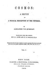 Cosmos: A Sketch of a Physical Description of the Universe, Volume 5