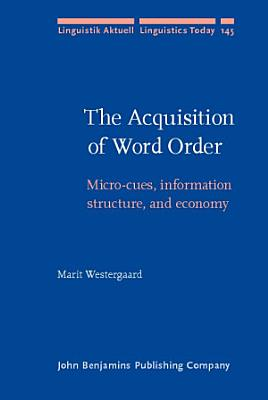 The Acquisition of Word Order PDF