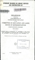Oversight Hearings on Library Services and Construction Act PDF