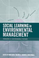 Social Learning in Environmental Management PDF