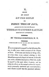 An Essay on the Oopas Or Poison Tree of Java: Addressed to the Honorable Thomas Stamford Raffles