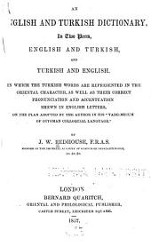 An English and Turkish Dictionary in Two Parts, English and Turkish, and Turkish and English: Volume 2