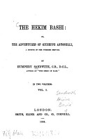 The Hekim Bashi  or the adventures of Giuseppe Antonelli  a doctor in the Turkish service PDF