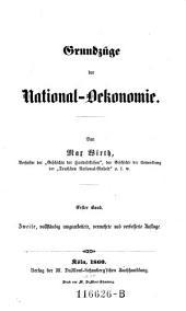 Grundzuege der National-Oekonomie