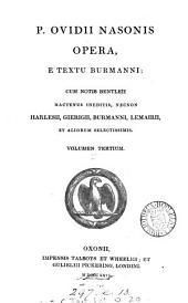 P. Ovidii Nasonis Opera, e textu Burmanni;: Metamorphoseon libri I-VII