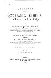 Diary of a journey into Jamm  n and Kashm  r between 8th June and 8th July  1859   Diary of a journey into Jamm  n and Kashm  r between 9th April and 5th May  1871   Extracts from a letter to Lord Lytton from D  rj  ling  dated 30th September  1876   Two diaries of travel in Sikkim in 1875  Introduction   A diary of travel in the British portion of Sikkim  between the 6th and 16th May  1875   A diary of travel in the D  rj  ling District and Independent Sikkim  between 26th May and 8th June  1875   Remarks on a tour through N  p  l in May  1876  Introduction   Remarks on a tour through N  p  l in May  1876   Appendix on place names in Jamm  n and Kashm  r tested by the Rev  J H  Knowles in Sr  nagar in 1886   Glossarial index of vernacular terms   General index PDF