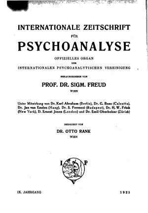 Internationale Zeitschrift f  r Psychoanalyse Und Imago PDF