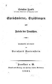 Sebastian Frank's Sprüchwörter: erzählungen und fabeln der Deutschen