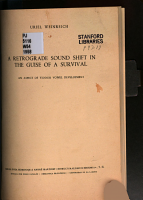 A Retrograde Sound Shift in the Guise of a Survival PDF