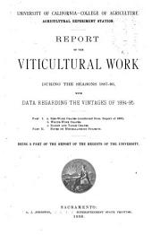 Report of the Viticultural Work