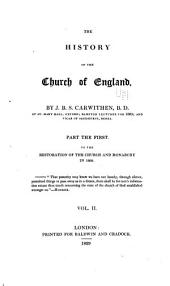 The History of the Church of England: Volume 2