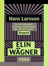 Hans Larsson: Tal vid inträdet i Svenska Akademien den 20 december 1944