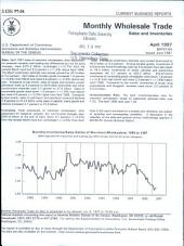 Current Business Reports: Monthly wholesale trade, sales, and inventories, Volume 3