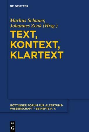 Text  Kontext  Klartext PDF