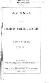 Journal of the American Oriental Society: Volume 10, Issue 2