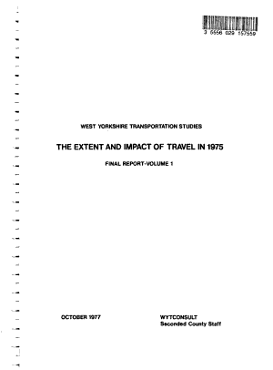 West Yorkshire Transportation Studies  The extent and impact of travel in 1975 PDF