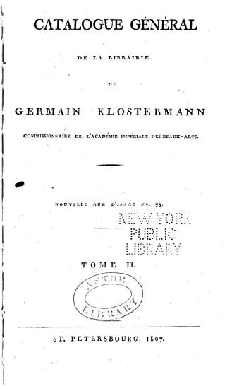 Catalogue g  n  ral de la librairie PDF