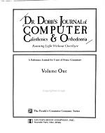 Dr  Dobb s Journal of Computer Calisthenics   Orthodontia PDF