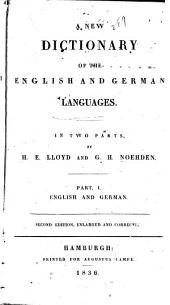 A New Dictionary of the English and German Languages: Volumes 1-2