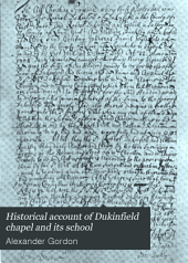 Historical Account of Dukinfield Chapel and Its School