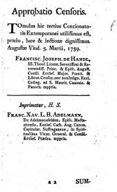 Concionator Extemporaneus In Dominicas Et Festa Per Annum: Pro Dominicis Per Annum. 3,1