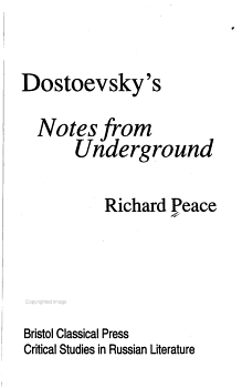 Dostoevsky s Notes from Underground PDF