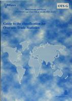 Guide to the classification for overseas trade statistics 2004 PDF