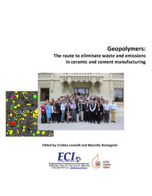 Geopolymers: The route to eliminate waste and emissions in ceramic and cement manufacturing