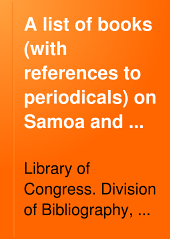 A List of Books (with References to Periodicals) on Samoa and Guam
